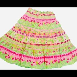 Lilly Pulitzer Pastel Skirt Size Small
